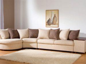 Перетяжка углового дивана на дому в Курске